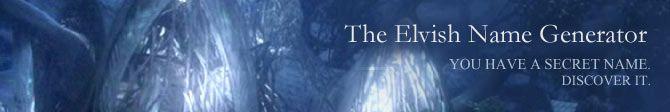 The Elvish Name Generator