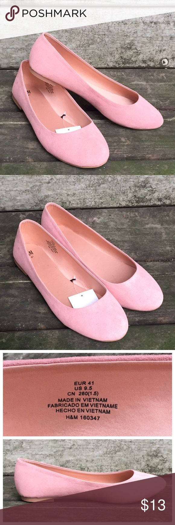 NEW H&M Flats New with tags soft pink flats. H&M size 9.5 US, size 41 EUR. H&M Shoes Flats & Loafers