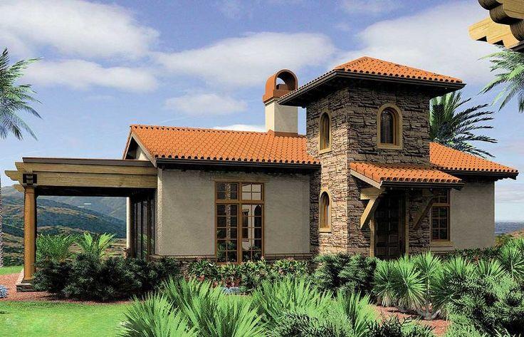 Мечтаете летом отдохнуть на даче? В этом красивом проекте есть все, что Вы хотите и Вам нужно в небольшом домике для отдыха на даче. Оштукатуренные наружные стены, черепичная крыша, окна в испанском стиле и двухэтажный вход, отделанный камнем создают...