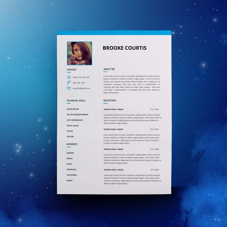 Resume Template CV Template for MS Word
