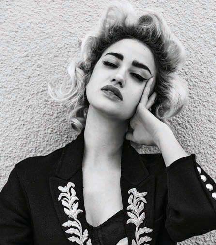 Nina Abdel Malak in Harper's Bazaar Arabia April 2016 by Silja Mag