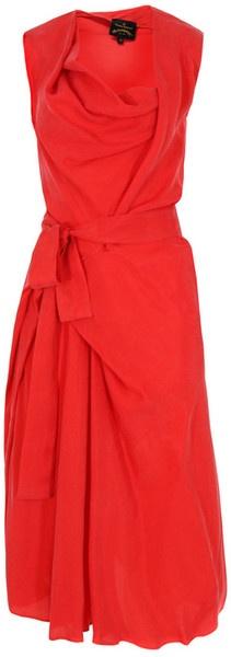 Vivienne Westwood Apron Fish Red Dress