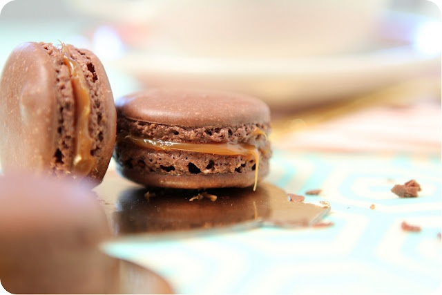 Dulce de Leche Macarons...The caramel is amazing. The macaroon stinked ...