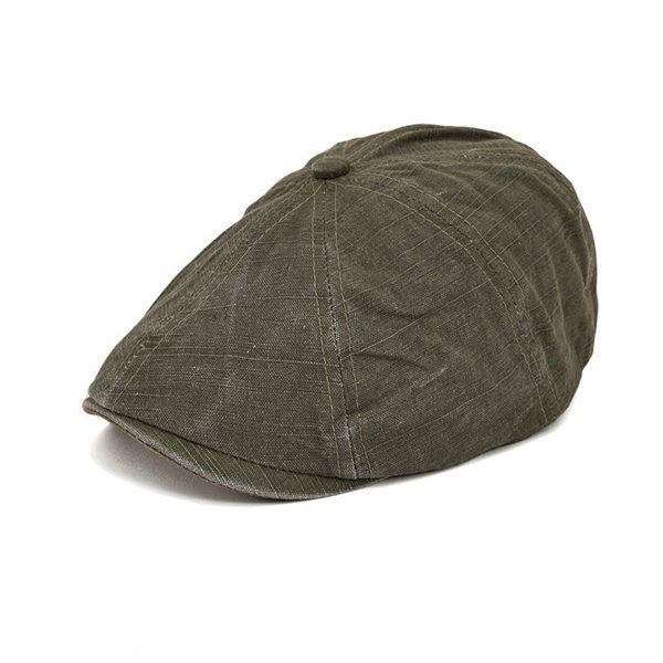 Men Cotton Gatsby Eight Panel Newsboy Cap Cabbie Golf Flat Beret Hat