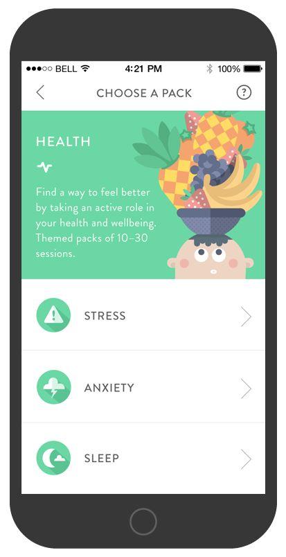 De Headspace app maakt meditatie op een leuke manier toegankelijk voor ieder moment van de dag.