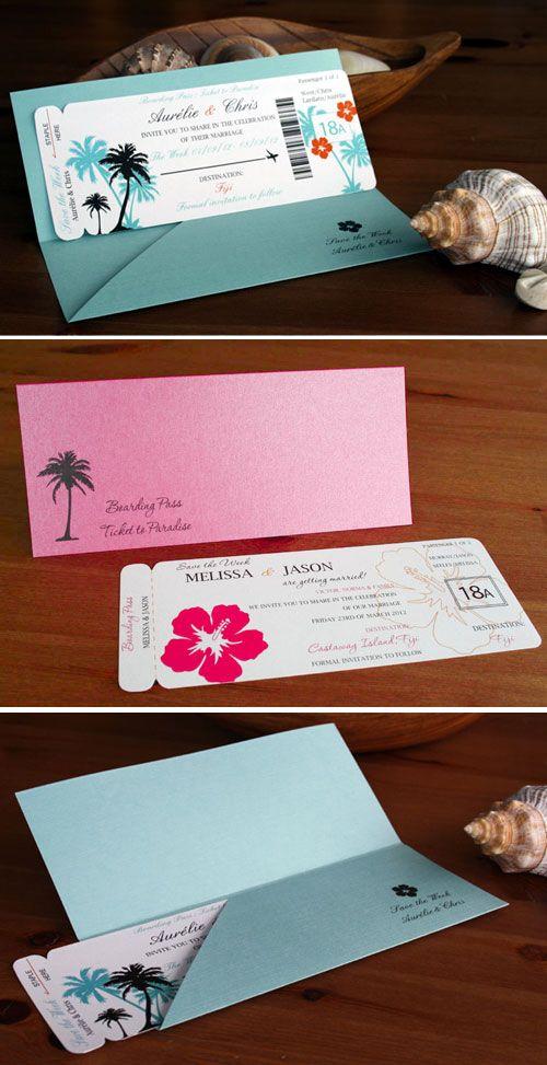 Boarding Pass Invitation – Save the Date – Destination Wedding Invitation SAMPLE Invite – Tropical Wedding invitation – Overseas Wedding