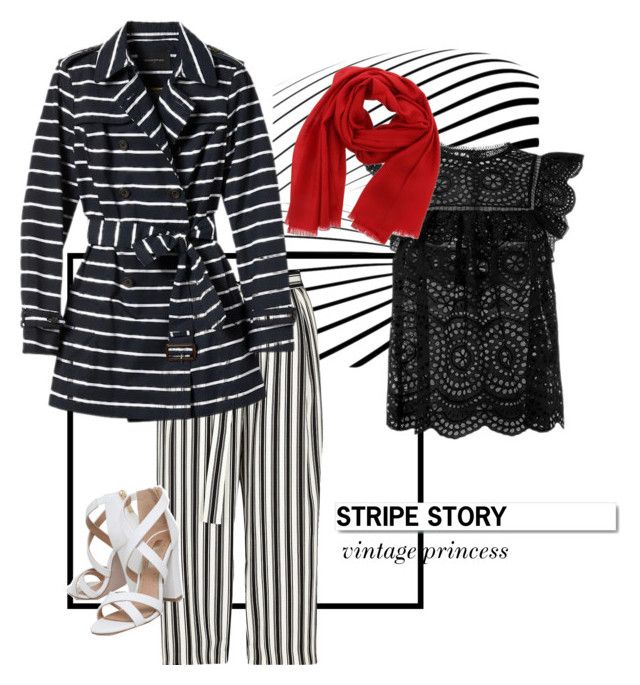 """stripe story #1"" by ina-misshijab on Polyvore featuring River Island, Zimmermann, Banana Republic, Salvatore Ferragamo, White Label and Miss KG"