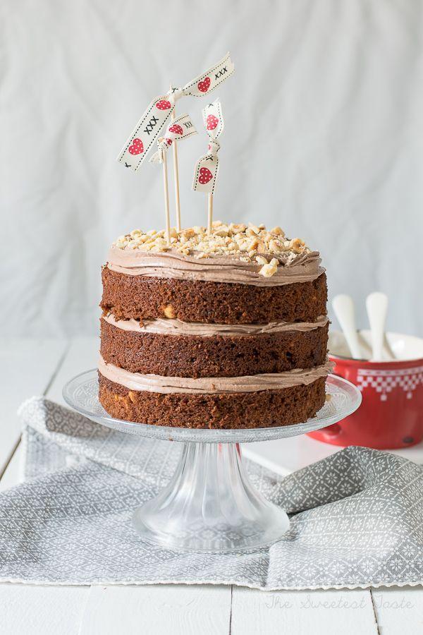 Tarta de chocolate y avellanas