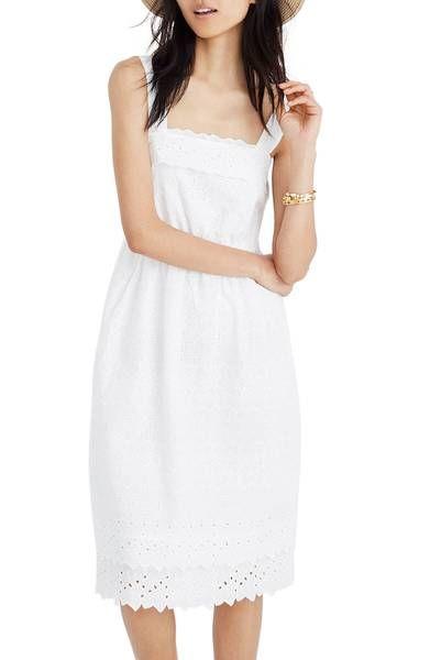 43780edd22b Main Image - Madewell Eyelet Tiered Midi Dress