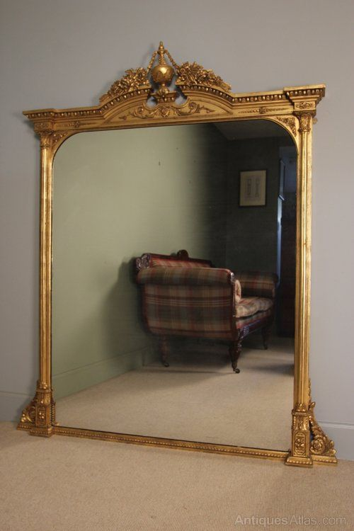 Antiques Atlas - Impressive 19th C. Giltwood Overmantle Mirror