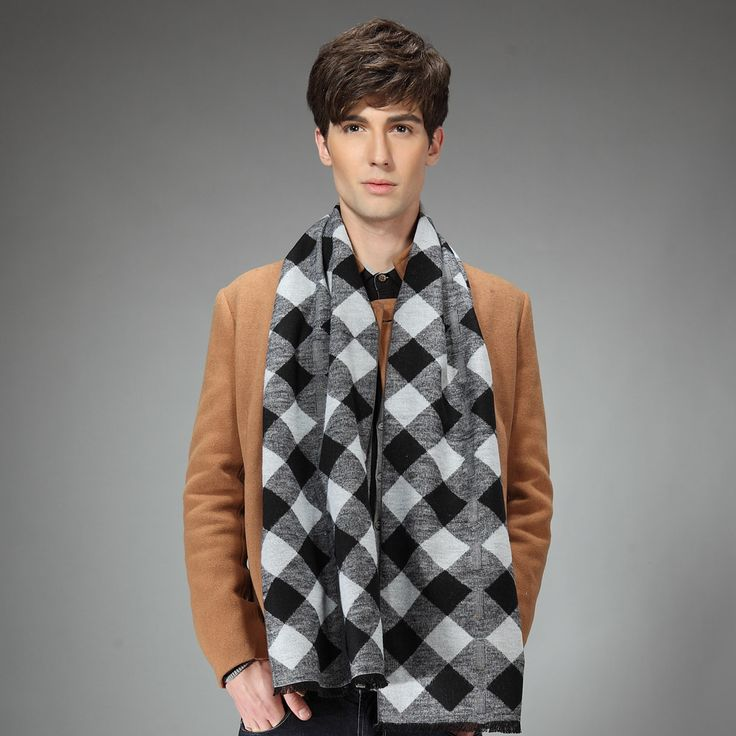 US Rui Taman men brushed silk scarves, silk scarves male upscale men's winter scarf  Sell like hot cakes USD$28.17