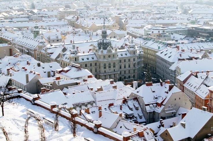 Hauptplatz #Graz (Austria) im Winter, © Graz Tourismus/Harry Schiffer