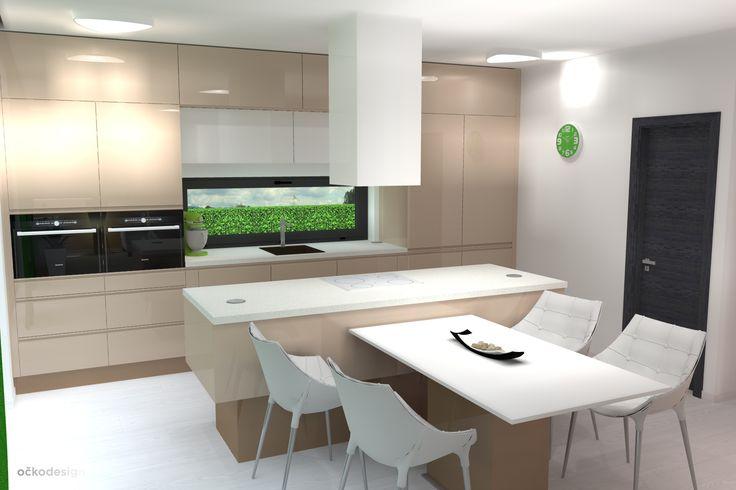 .... židle od designera Philippa Starcka jsou ozdobou kuchyně (cappuccino, latté kitchen) www.ockodesign.cz