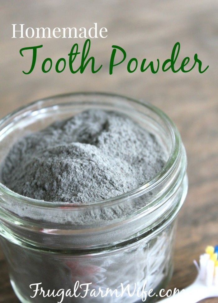 Homemade Tooth Powder. My teeth have never felt cleaner since using this all-nat…