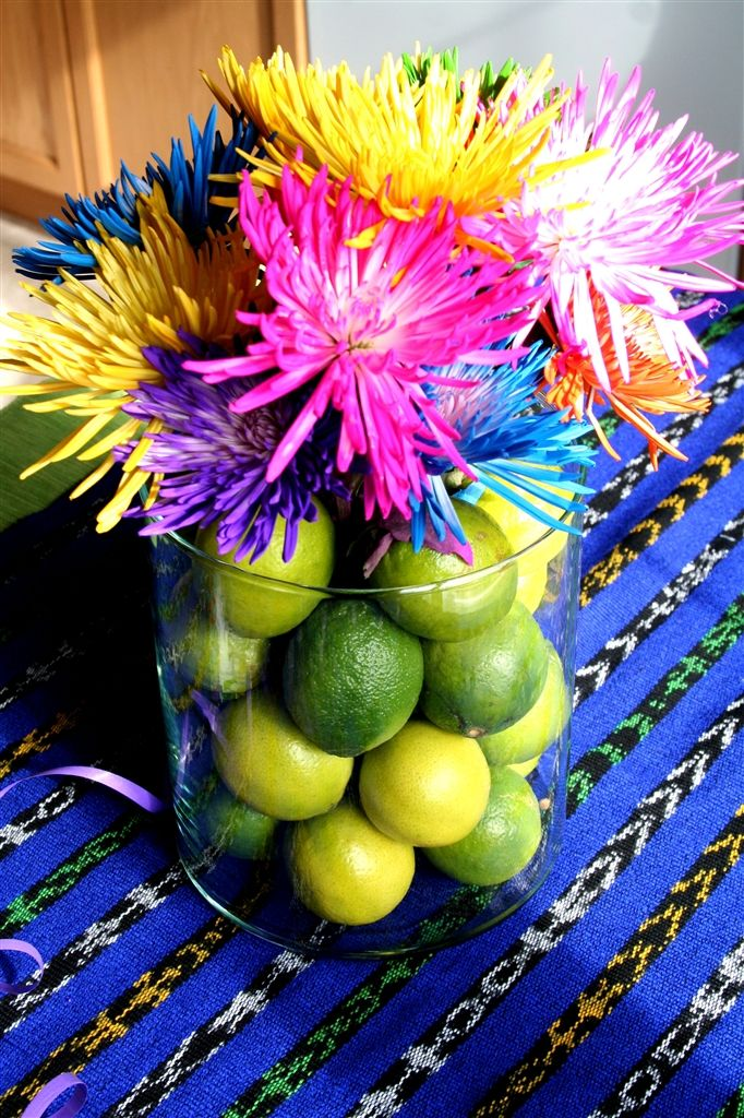 Pretty Centerpiece Decoration Use Paper Flowers Instead Of Real Find This Pin And More On Cinco De Mayo