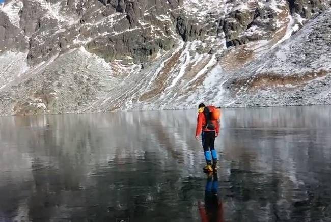 Slovkia Clear Ice Lake
