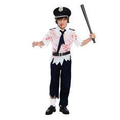 Disfraz de Policía Niño Zombie #disfraces #carnaval #novedades2016