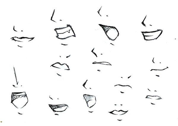 Anime mouths and noses   Nose drawing, Mouth drawing ...
