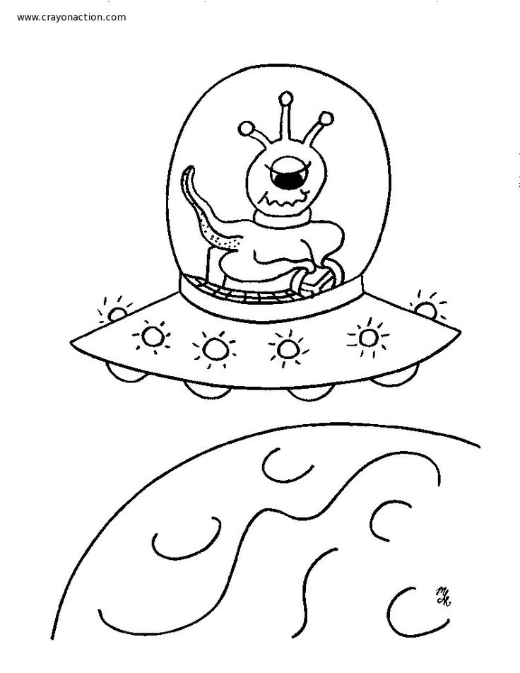 Aliens Coloring Page Jpg X Flying Sauceralien