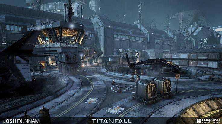 Titanfall - Airbase, Josh Dunnam on ArtStation at https://www.artstation.com/artwork/06OxE