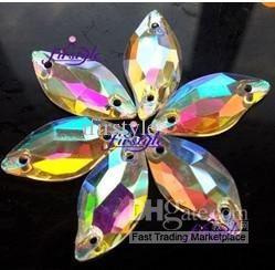 Wholesale Crystal - Buy Sew on Crystal Flower Petal 20x10mm Glass Crystal Leaf Shape Sew on Rhinestone Clear AB Beauty Fish, $0.19 | DHgate