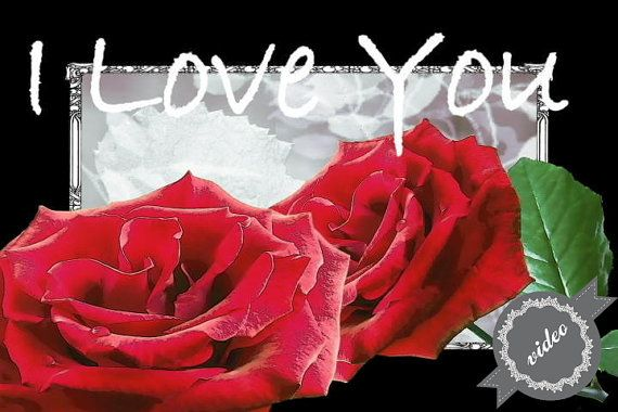 I Love You greeting digital video for your by TantiAuguriCards, €3.00