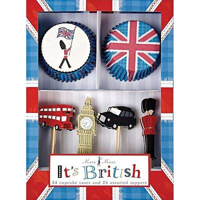 British Themed Cupcake Toppers - Bride of Colour Wedding Blog