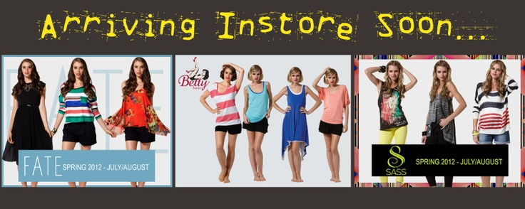 Sass Spring arriving in-store soon....