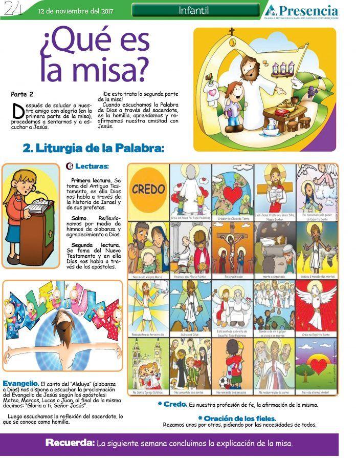 2da Y 3er Parte La Santa Misa Presencia Digital Educación Religiosa Católica Temas De Catequesis Enseñanza Religiosa