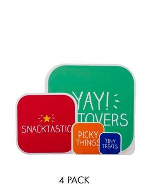 Happy Jackson Snacktastic Pack of 4 Snack Boxes