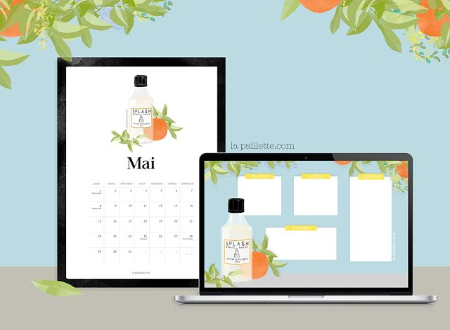 calendrier mai 2017 may calendar parfum fragrance astier de villatte wallpaper desktop illustration fond ecran organisé