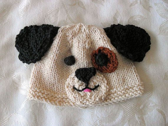 Puppy Dog Hat Knitting Pattern : Baby Puppy Hat Knitting Pattern - Children Clothing - Dog ...