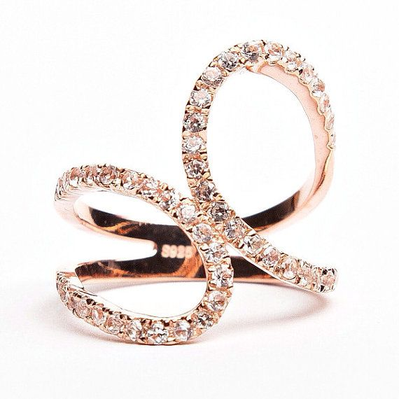 Rouelle SPUNK ring Rose Gold Plated and Crystal Ring. by Rouelle, $59.00