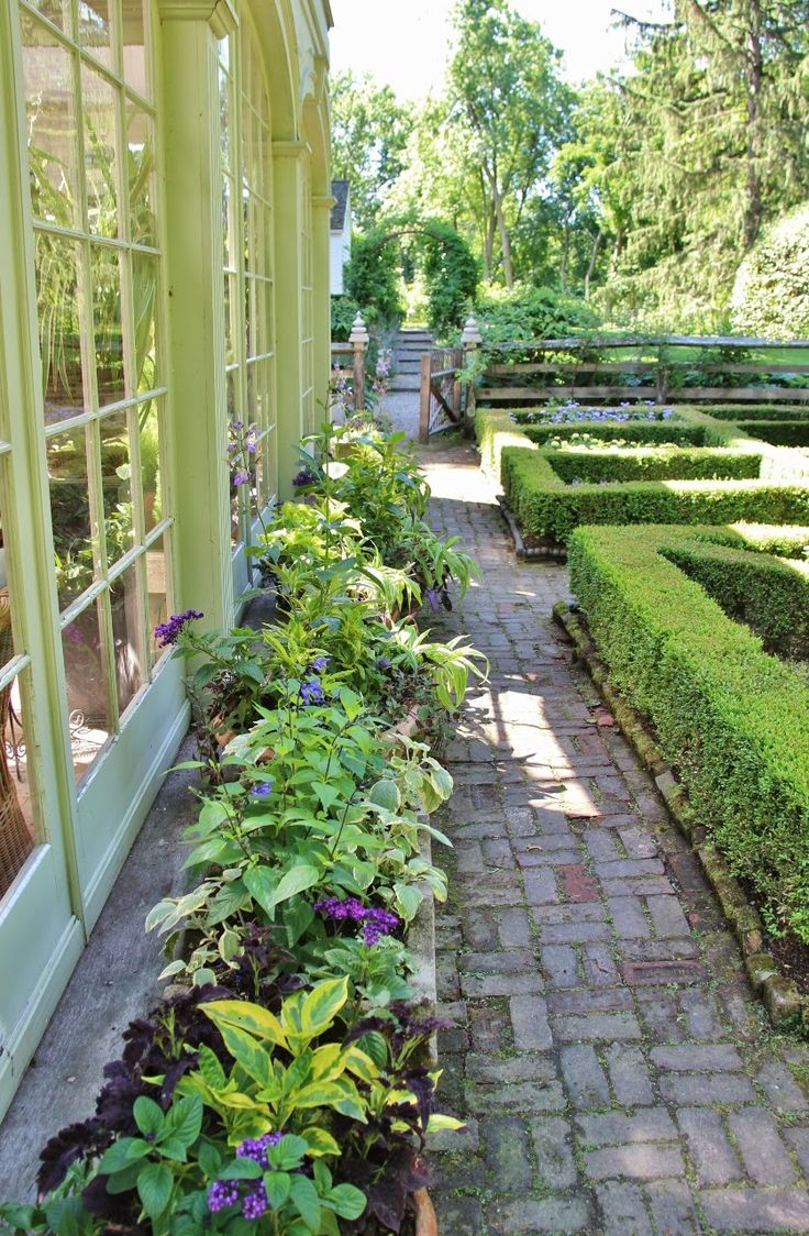 Vegetable garden with covered walkways - Tone On Tone Visiting Bunny Williams Giveaway Veg Gardengarden
