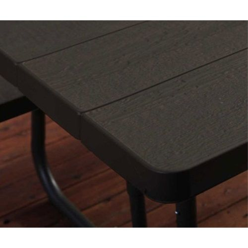 Lifetime Folding Picnic Table 60105 6 Foot Dark Brown Faux Wood