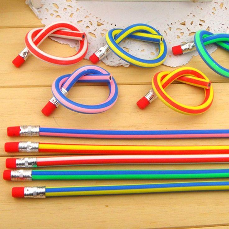 10 pcs/lot Cute Magic Flexible Bendy Soft Standard Pencil for kids Gift School Supplies Wholesale Free shipping Kawaii pencil