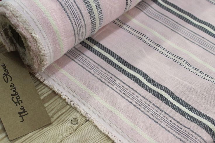 Powder Pink Stripe Linen/Cotton