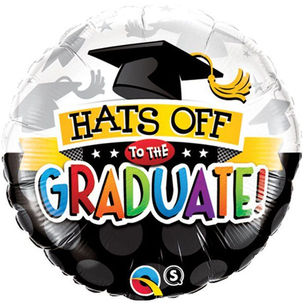"Hats off to the Graduate Balloon - 18"" Foil (each)"