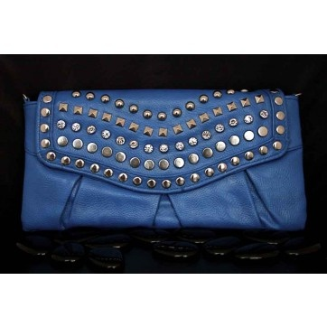 A true punk doesn't believe in stratification, so this preppy blue clutch gives our studs a new platform. It's J.Crew with a kick (and half the price)! $50