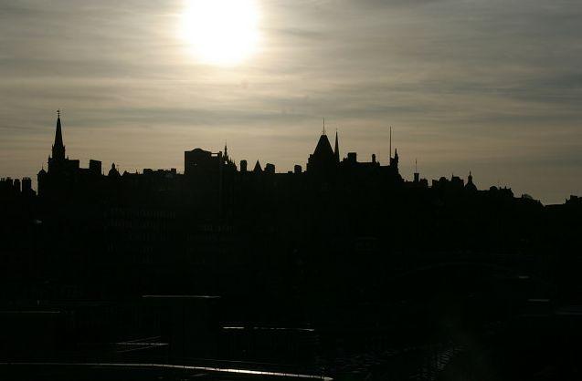 Edinburgh skyline. Who says you should never shoot into the sun?