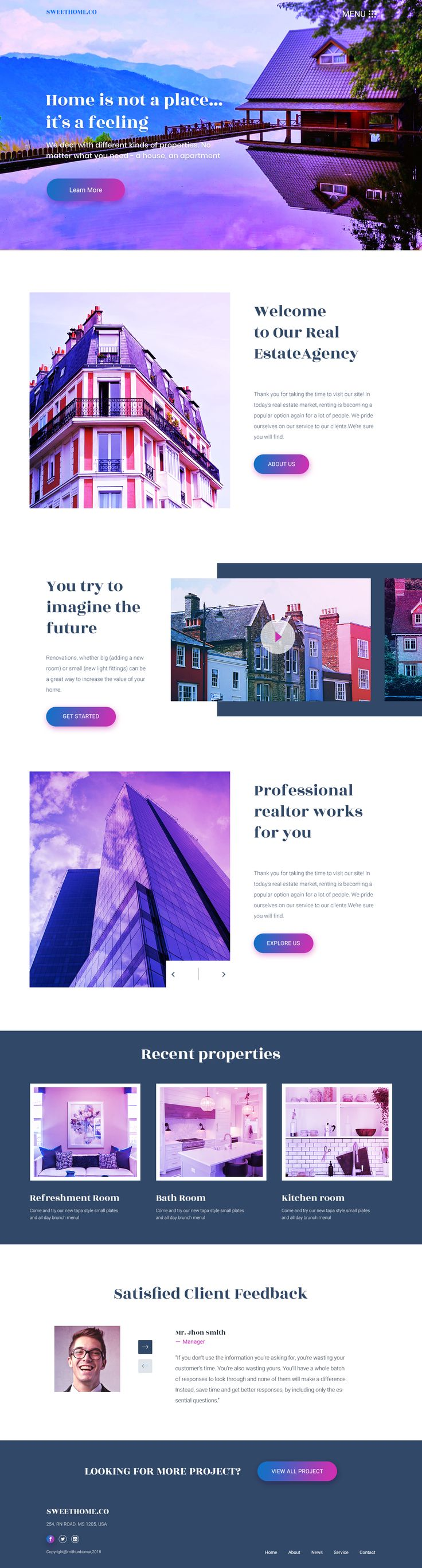 Real estate landing page experiment