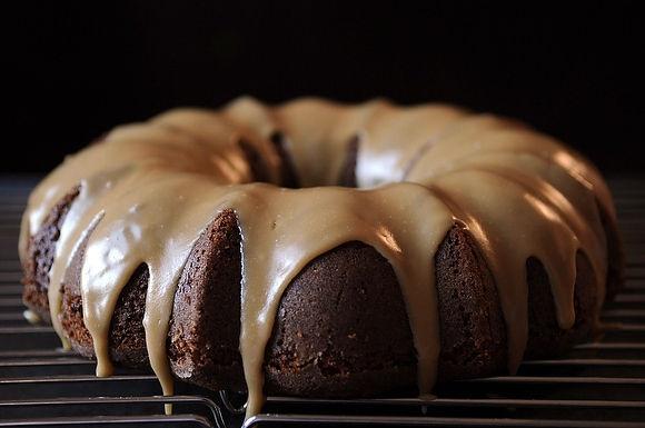 Applesauce Cake with Caramel Glaze by merrill via food52 #Applesauce_Cake #Merrill #food52