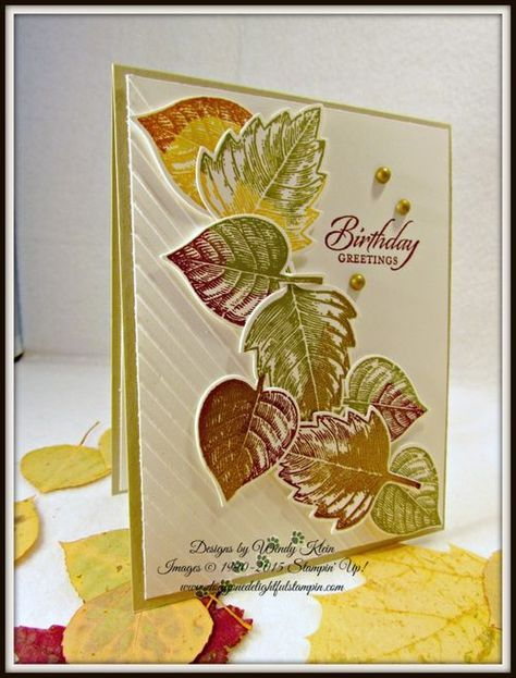 Stampin' Up!  PPA270, Vintage Leaves, Wetlands, All Boxed Up, Leaflets framelits, Pearls Gold Dazzle marker (ret.), Simply Scored, Diagonal Plate, Gold embossing powder