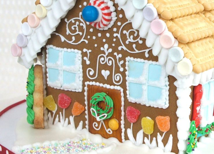 How to decorate a gingerbread house with royal icing - how to make a gin...