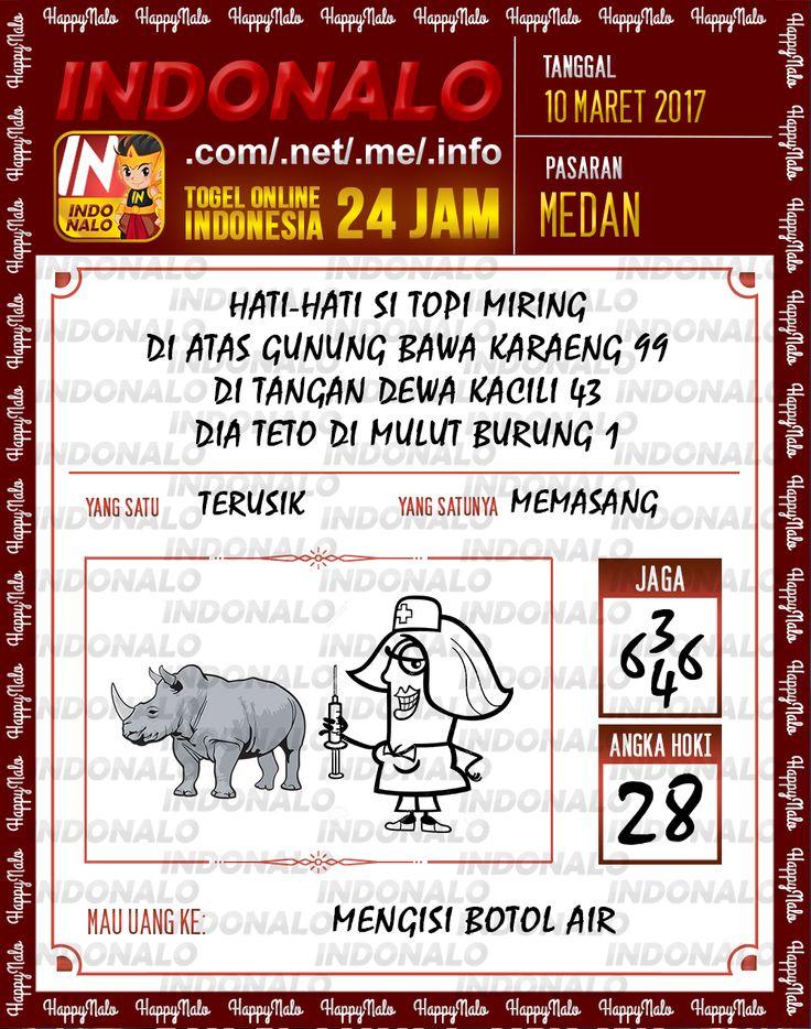 Kode Alam 2D Togel Wap Online Indonalo Medan 10 Maret 2017