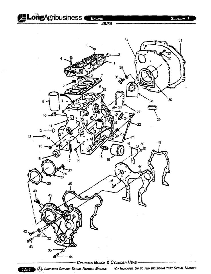 Farmtrac 34, 45 and 60 Engine Parts Manual for Tractor