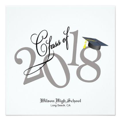 Funky Class Of 2018 Graduation Invitation Graduation Party