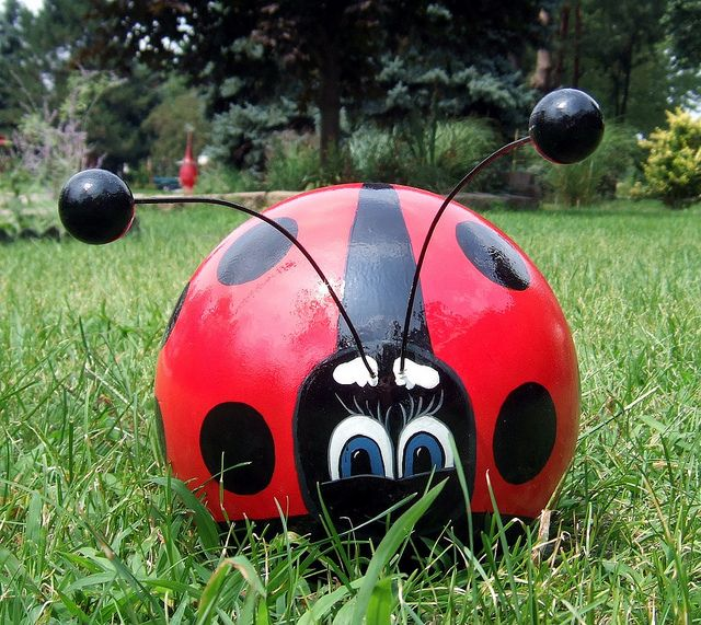 Bowling Ball Lady Bug #2A 8-1-2010 by KRAZY4CRAFTS, via Flickr