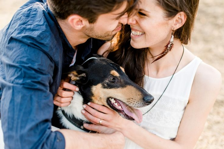 Couple session with dog