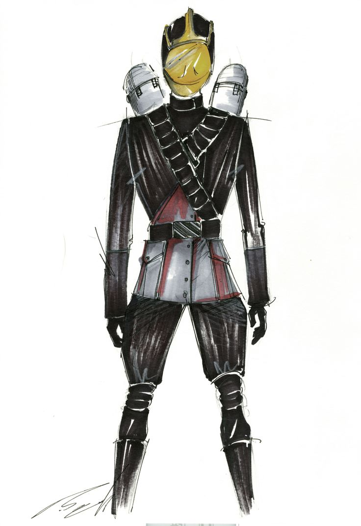 Costume design concept  for upcoming SciFi film Phoenix By itamar zechoval